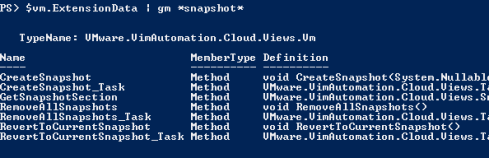 PowerCLI snapshots