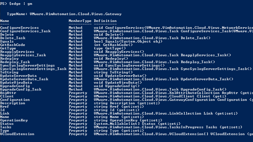 Edge Gateway in PowerCLI