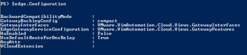 PowerCLI Edge Gateway Configuration