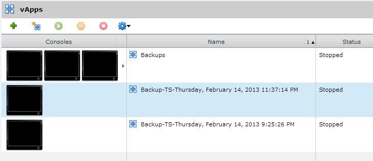 vcloud backups